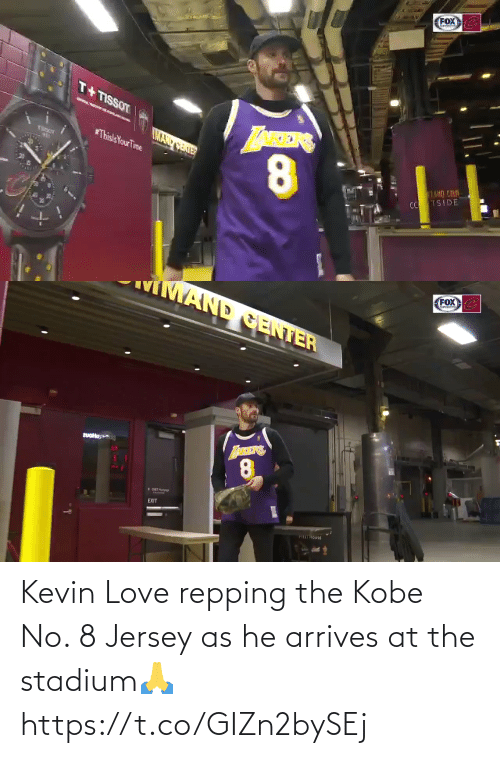 repping: Kevin Love repping the Kobe No. 8 Jersey as he arrives at the stadium🙏 https://t.co/GIZn2bySEj
