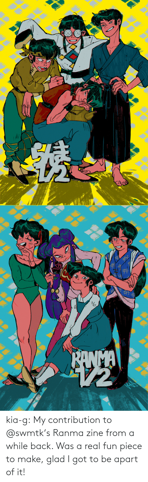 glad: kia-g:  My contribution to @swmtk's Ranma zine from a while back. Was a real fun piece to make, glad I got to be apart of it!
