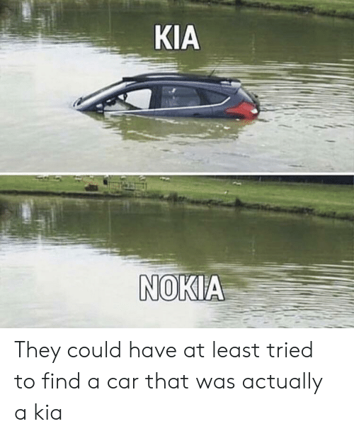 Kia Nokia: KIA  NOKIA They could have at least tried to find a car that was actually a kia