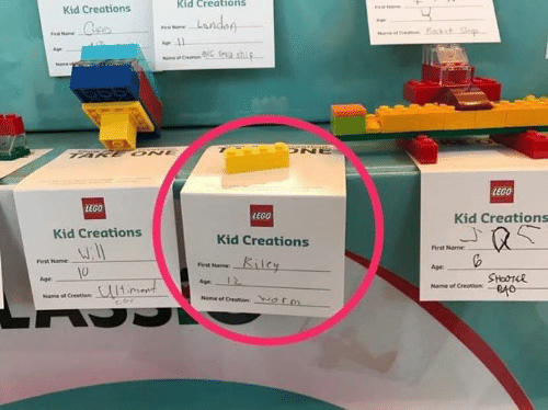 creations: Kid Creations  Kid Creations  LEGO  LEGO  LEGO  Kid Creations  Kid Creations  Kid Creations  First Name  Age  Name of Creation:  irst Nome  First Name  0  Age  SHoOT4R  Age  Name ef Creation