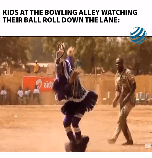 Bowling: KIDS AT THE BOWLING ALLEY WATCHING  THEIR BALL ROLL DOWN THE LANE:  airls  LTC