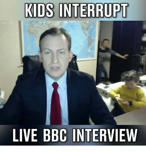 Memes, 🤖, and Bbc: KIDS INTERRUPT  LIVE BBC INTERVIEW
