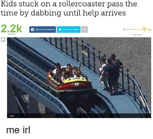 Kids Stuck on a Rollercoaster Pass the Time by Dabbing Until Help ...