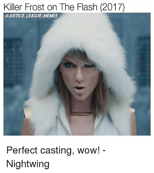 frosting: Killer Frost on The Flash (2017)  @JUSTICE LEAGUE, MEMES Perfect casting, wow! -Nightwing