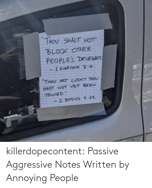 All Time: killerdopecontent:    Passive Aggressive Notes Written by Annoying People