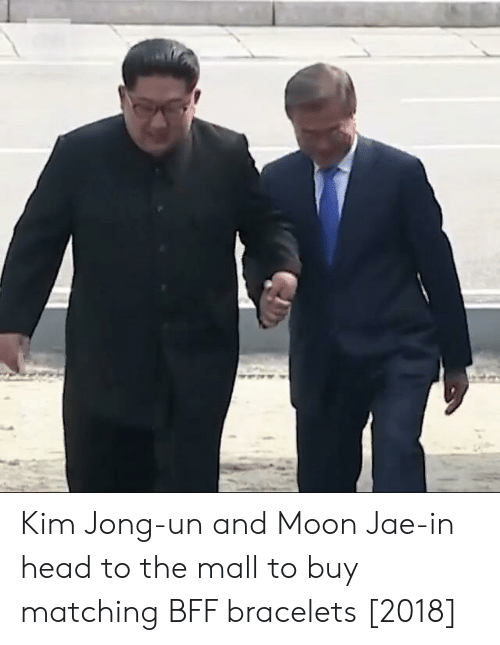 bracelets: Kim Jong-un and Moon Jae-in head to the mall to buy matching BFF bracelets [2018]