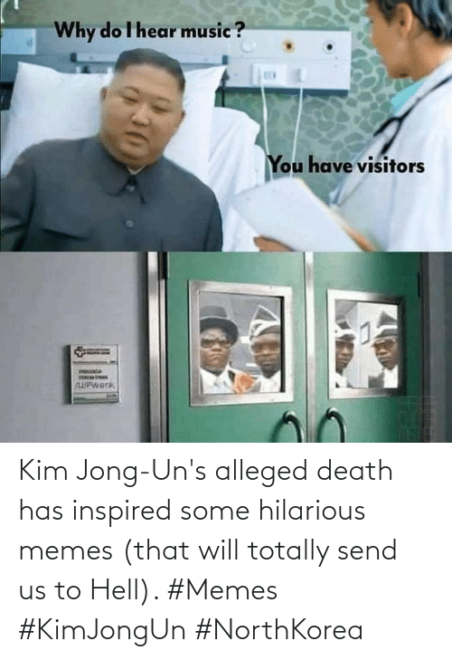 send: Kim Jong-Un's alleged death has inspired some hilarious memes (that will totally send us to Hell). #Memes #KimJongUn #NorthKorea