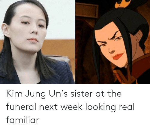 sister: Kim Jung Un's sister at the funeral next week looking real familiar
