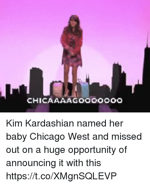 Chicago, Kim Kardashian, and Kardashian: Kim Kardashian named her baby Chicago West and missed out on a huge opportunity of announcing it with this https://t.co/XMgnSQLEVP