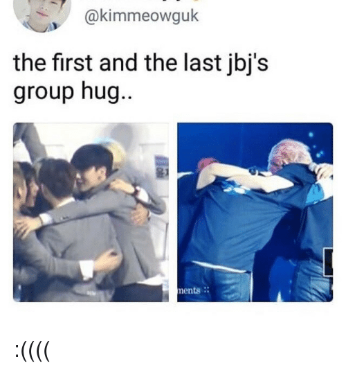 ents: @kimmeowguk  the first and the last jbj's  group hug  ..  윤1  ents. :((((