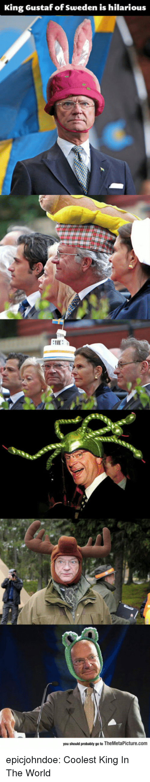 Is Hilarious: King Gustaf of Sweden is hilarious  im  IE  you should probably go to TheMetaPicture.com epicjohndoe:  Coolest King In The World