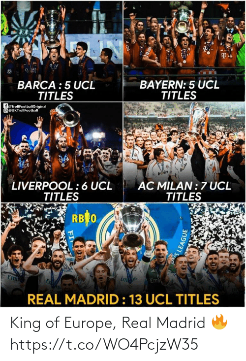 King Of: King of Europe, Real Madrid 🔥 https://t.co/WO4PcjzW35
