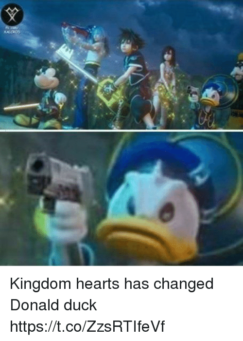 Kingdom Hearts: Kingdom hearts has changed Donald duck https://t.co/ZzsRTIfeVf