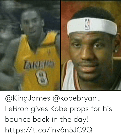 Bounce Back: @KingJames @kobebryant LeBron gives Kobe props for his bounce back in the day!    https://t.co/jnv6n5JC9Q