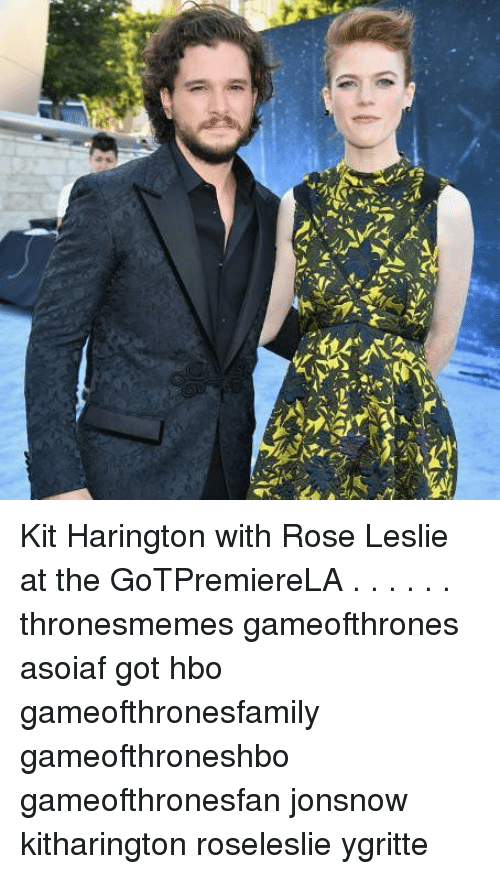Kit Harington: Kit Harington with Rose Leslie at the GoTPremiereLA . . . . . . thronesmemes gameofthrones asoiaf got hbo gameofthronesfamily gameofthroneshbo gameofthronesfan jonsnow kitharington roseleslie ygritte