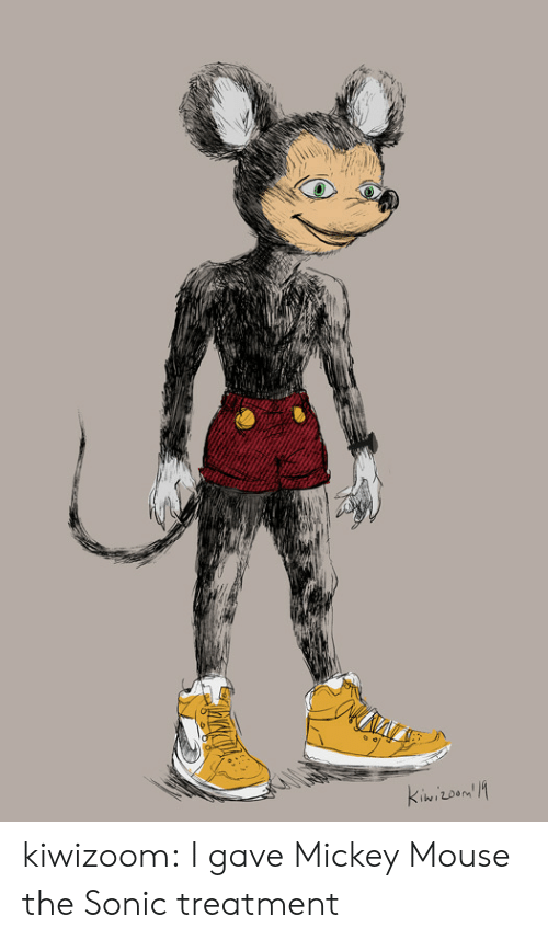 Mickey Mouse: kiwizoom:  I gave Mickey Mouse the Sonic treatment