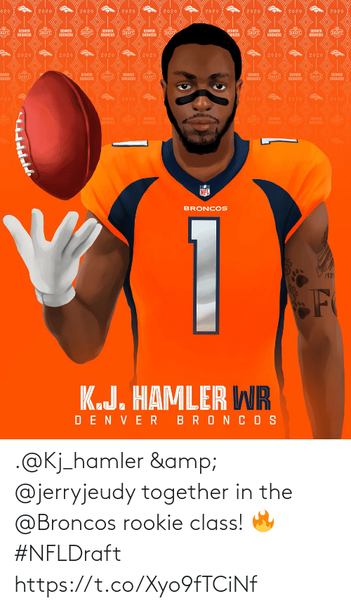 Rookie: .@Kj_hamler & @jerryjeudy together in the @Broncos rookie class! 🔥 #NFLDraft https://t.co/Xyo9fTCiNf