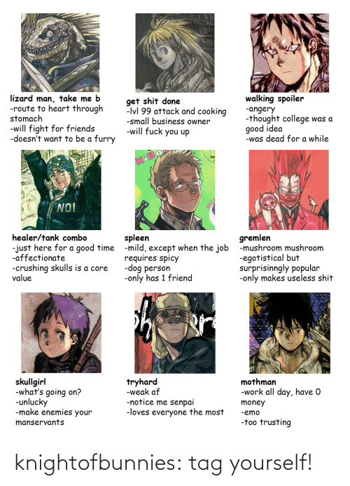 tag: knightofbunnies:  tag yourself!