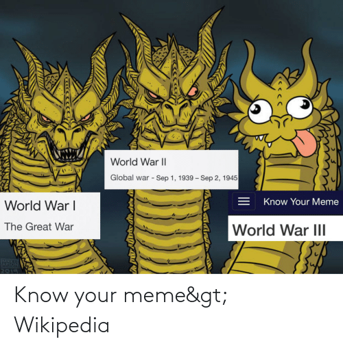 know your meme: Know your meme> Wikipedia
