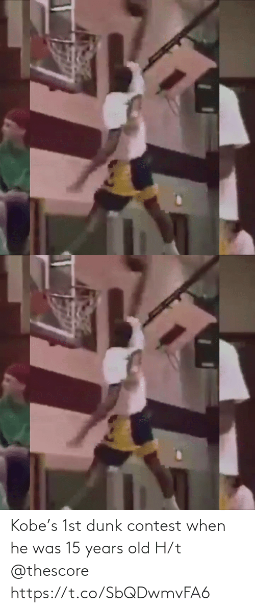 H T: Kobe's 1st dunk contest when he was 15 years old H/t @thescore https://t.co/SbQDwmvFA6