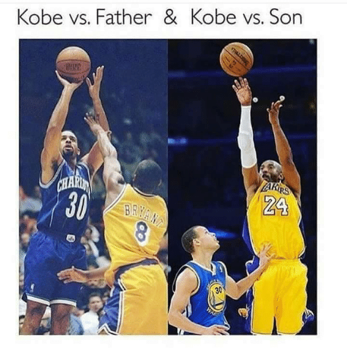 Memes, 🤖, and Bra: Kobe vs. Father & Kobe vs. Son  ZA  BRA