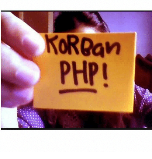 Indonesian (Language), Php, and Kor: KoR@an  PHP!