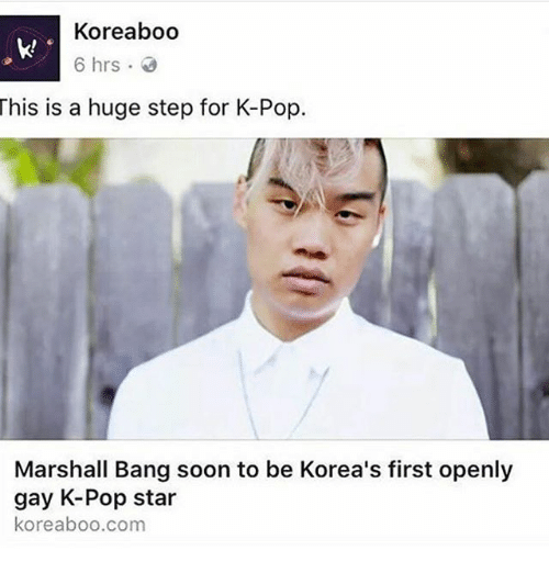 Openly gay celebrity in korea