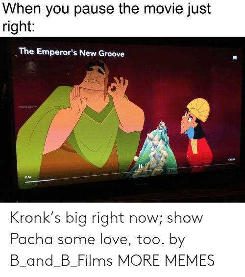 films: Kronk's big right now; show Pacha some love, too. by B_and_B_Films MORE MEMES