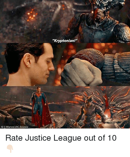 "Memes, Justice, and Justice League: ""Kryptonian!""  IG I