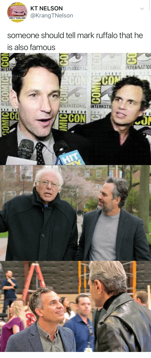 """Cool Dad: KT NELSON  OR D@KrangTNelson  NG NEWS  ORK'S """"COOL DAD'  AIMS HE'S NOT LINE OTHER  someone should tell mark ruffalo that he  is also famous   INTERNATIO  INTL  200"""