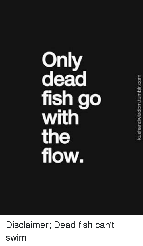 Kushandwizdomtumblrcom Only Dead Fish Go the Flow ...