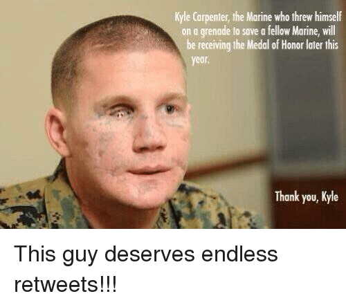 kyle carpenter the marine who threw himself on a grenade 11519148 🔥 25 best memes about memes memes, meme generator,Endless Shrimp Meme