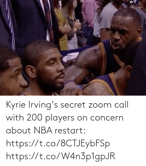 NBA: Kyrie Irving's secret zoom call with 200 players on concern about NBA restart: https://t.co/8CTJEybFSp https://t.co/W4n3p1gpJR