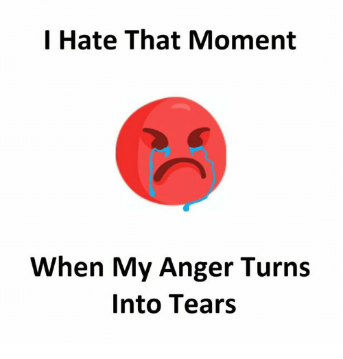 Memes, 🤖, and Anger: l Hate That Moment  When My Anger Turns  Into Tears