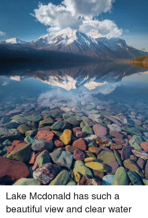 clear water: Lake Mcdonald has such a beautiful view and clear water