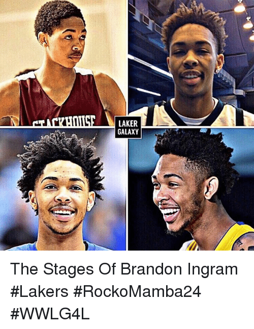 Memes, Brandon Ingram, and 🤖: LAKER  GALAXY The Stages Of Brandon Ingram #Lakers  #RockoMamba24 #WWLG4L