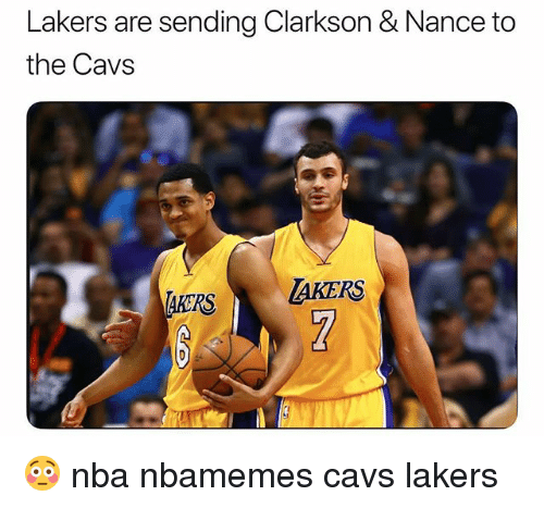 Basketball, Cavs, and Los Angeles Lakers: Lakers are sending Clarkson & Nance to  the Cavs  RSAKERS 😳 nba nbamemes cavs lakers