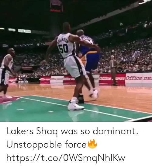 Los Angeles Lakers: Lakers Shaq was so dominant. Unstoppable force🔥 https://t.co/0WSmqNhIKw