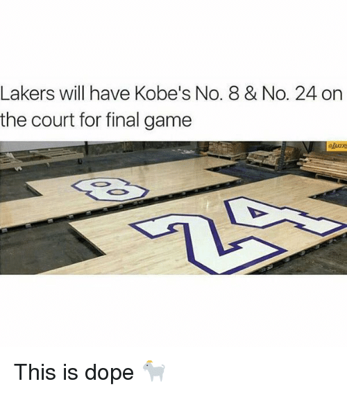 Kobe: Lakers will have Kobe's No. 8 & No. 24 on  the court for final game This is dope 🐐