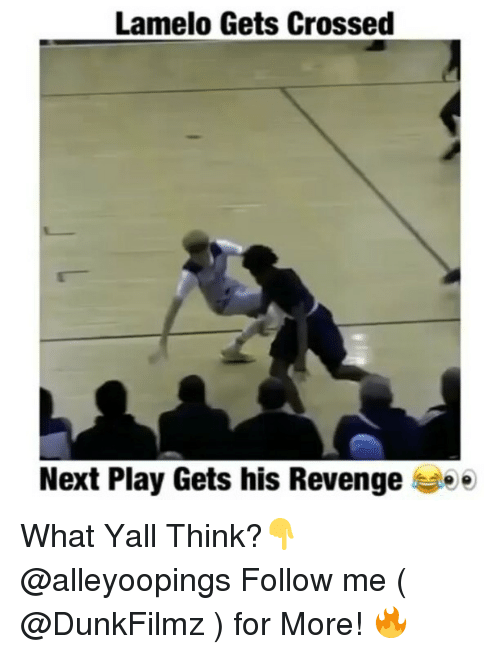 Memes, Cross, and 🤖: Lamelo Gets Crossed  Next Play Gets his Revenge ee What Yall Think?👇 @alleyoopings Follow me ( @DunkFilmz ) for More! 🔥