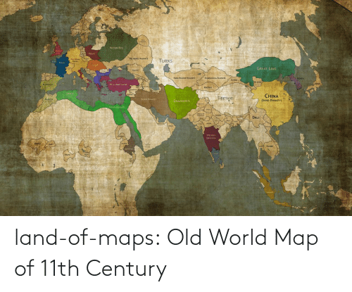 map: land-of-maps:  Old World Map of 11th Century
