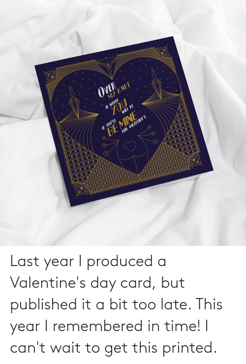 valentines day card: Last year I produced a Valentine's day card, but published it a bit too late. This year I remembered in time! I can't wait to get this printed.