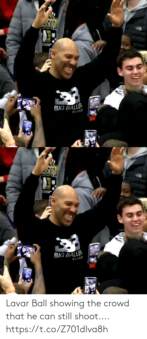 shoot: Lavar Ball showing the crowd that he can still shoot.... https://t.co/Z701dlva8h