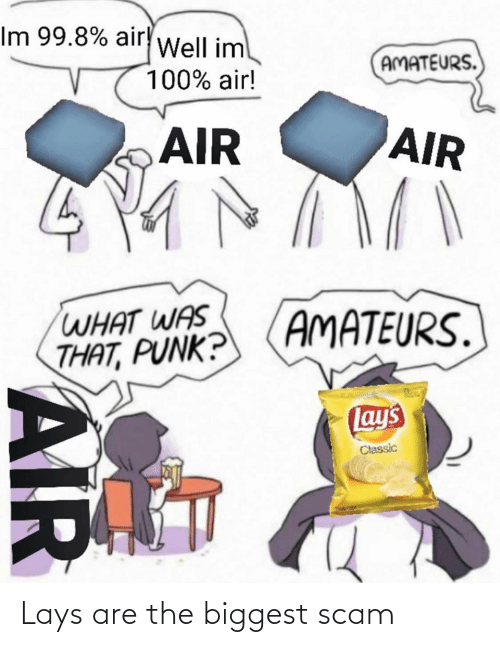 Lay's: Lays are the biggest scam