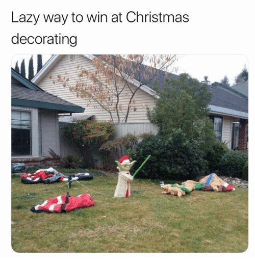 decorating: Lazy way to win at Christmas  decorating
