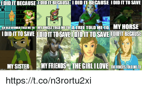 Friends, Love, and Video Games: LDID IT BECAUSE OIDITBECAUSE I DID IT BECAUSE IDID IT TO SAVE  MY HORSE  AN OLD WOMANTOLD METO MYUNCLE TOLD METO ATREE TOLD METO  İDIDIT TO SAVE IMIDIT TO SAVET DID IT TO SAVE IDIDIT BECAUSE  MY SISTERMY FRIENDS THE GIRL I LOVE THEVOICETLD METO https://t.co/n3rortu2xi