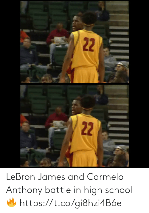 Lebron: LeBron James and Carmelo Anthony battle in high school🔥 https://t.co/gi8hzi4B6e