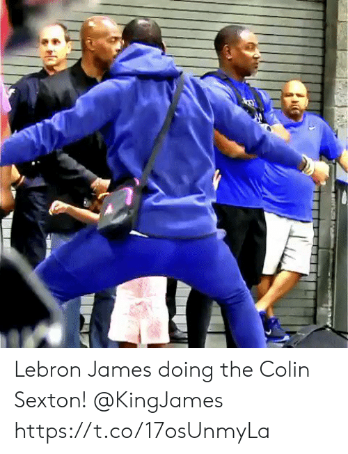 Colin: Lebron James doing the Colin Sexton! @KingJames https://t.co/17osUnmyLa