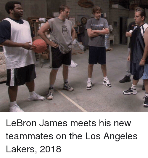 Los Angeles Lakers: LeBron James meets his new teammates on the Los Angeles Lakers, 2018
