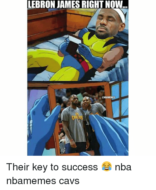 Basketball, Cavs, and LeBron James: LEBRON JAMES RIGHT NOW  @ NBAMEMES  OS Their key to success 😂 nba nbamemes cavs